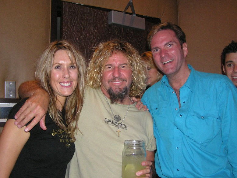 Candi, Sammy Hagar & I at Toby Keith's I Love This Bar & Grill
